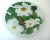 Peggy Karr Art Glass Magnolia Plate - Fused Glass