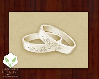 Greeting card: Her One, Her Only — lesbian marriage, gay marriage, LGBT wedding