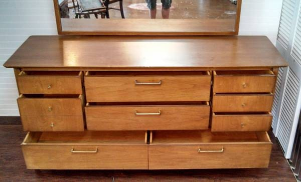 Sold Vintage Drexel Triple Dresser Mid Century Retro With