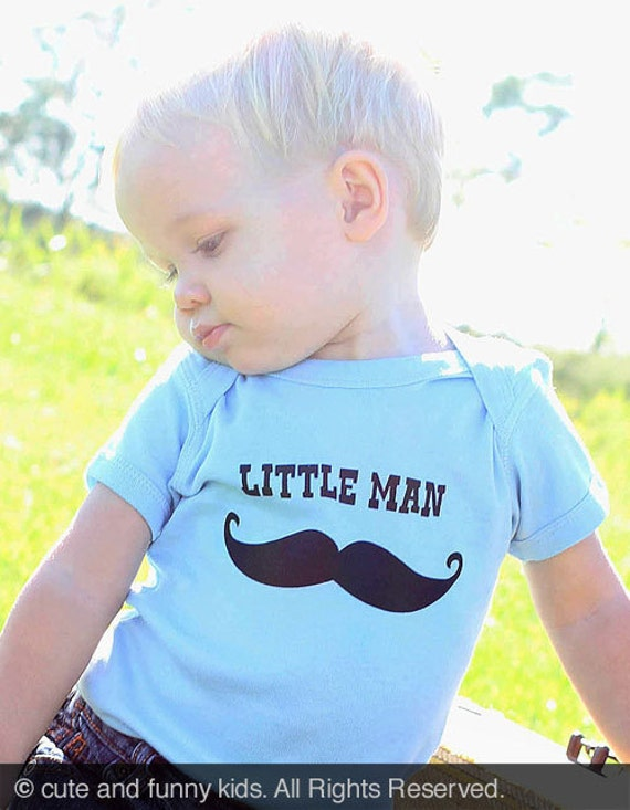 Mustache Little Man Baby One-Piece Infant Bodysuit baby gift under 20