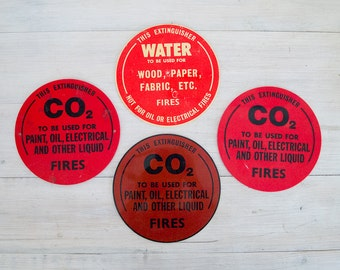 vintage industrial chemical signs, carbon dioxide and water