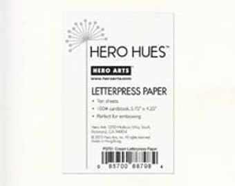 Hero Arts Cream Letterpress Paper PS701
