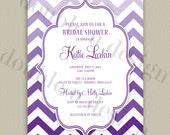 COLOR OPTIONS -Ombre Chevron Bridal/Wedding Shower Invitation - Printable