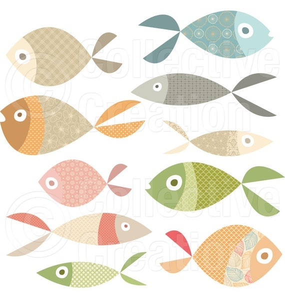 Items similar to lots of fish digital clip art personal for Lots of fish