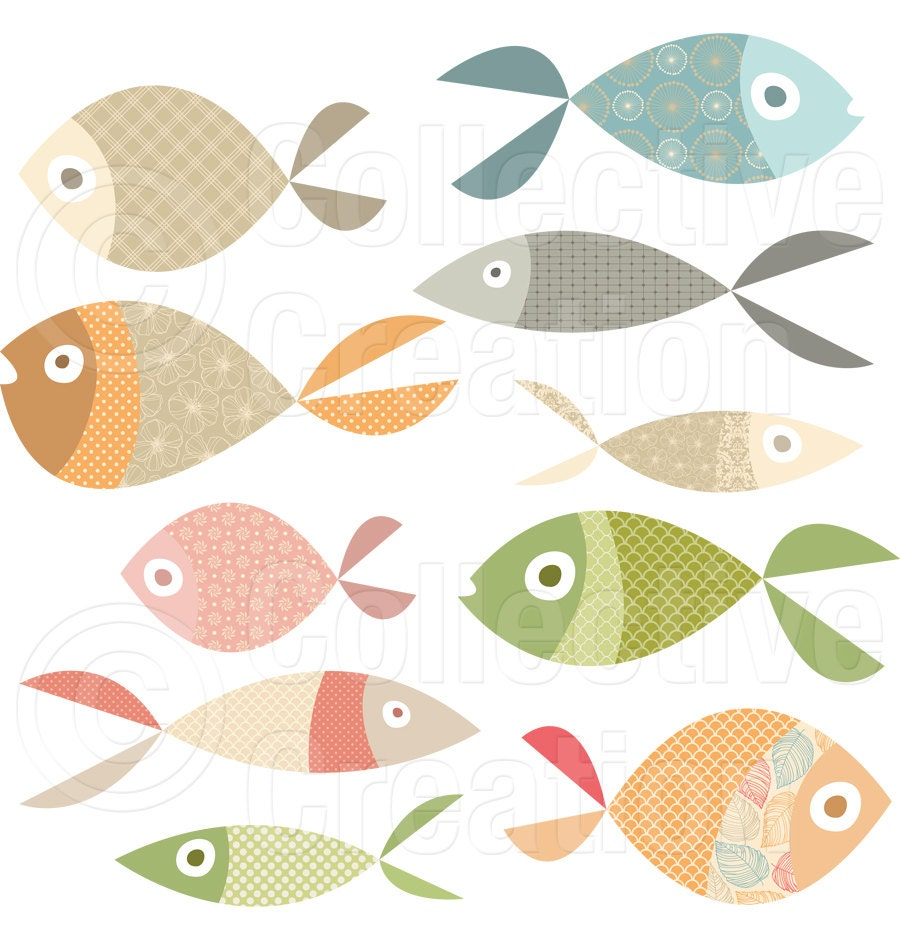 Lots of fish digital clip art personal and by for Lot of fish
