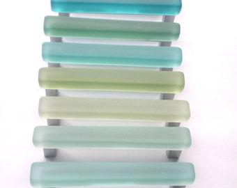 10 beach glass pulls