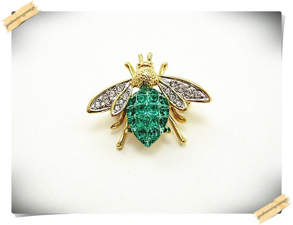 Rhinestone Fly Pin