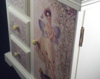 White Fairy Ballerina Upcycled Jewelry Box
