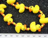 Easter Design Ducking Lampwork Glass Beads, 12 Beads Pack L10111