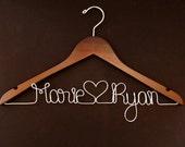 Personalized Wedding Hanger - Bridal Hanger - Custom Wedding Hanger - Wood Hanger - Wedding Hangar - Bridal Shower Gift - Bridesmaid Hanger