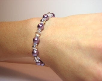 Lilac - Interchangeable Beaded Watch Band