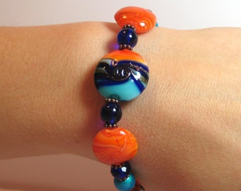 Tropical Fusion - COPPER Interchangeable Beaded Watch Band
