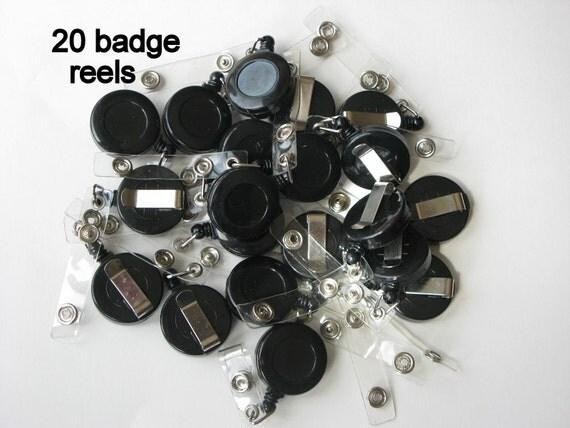 Blank Badge Reels 20 Retractable Badge Holders Wholesale