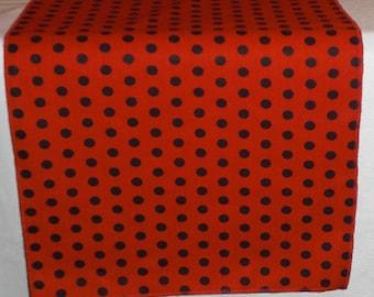 Red and Black Polka Dot Runner