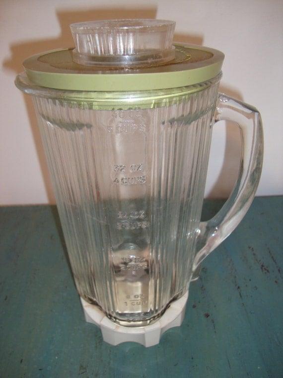 Vintage Waring Blender Glass Replacement Jar, Avocado, for 14 Speed Blender