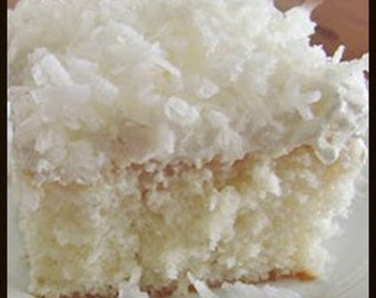 Coconut Poke Cake Recipe~~~Instant Download
