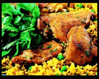 Chicken and Yellow Rice Recipe~~~Instant Download