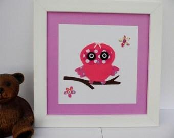 Owl nursery picture, Wall Art, Nursery Art, Childs Room Art, Kids Wall Art, Babys Nursery, Kids Decor, Boys Decor