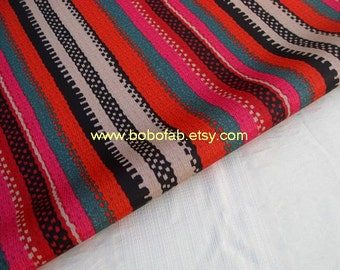 "3241A  - 1 yard Vinyl Waterproof Fabric - Color Stripes  - 57""x36"""