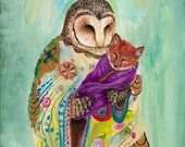 Print // nursery decor // Adoptive Mother // Foster Mother // Grandmother // Aunt // Owl Art / woodland art / wall art / home decor