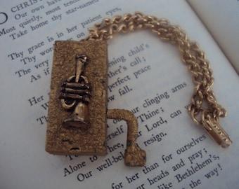 Tiny Hand Cranked Music Box Charm Bracelet