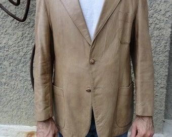vintage Cabretta Leather Sport jacket 46