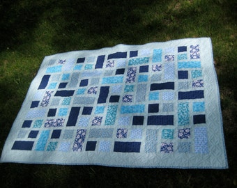 Hidden Pond Baby Crib Quilt Play Quilt or Throw