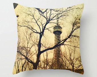 Czech Republic Winter Cushion Pillow for Wanderlust Decor