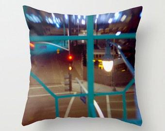 Night Life Decorative Pillow Cushion for Urban Modern Decor