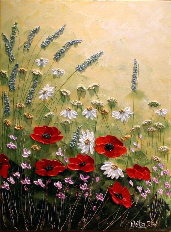 Original Modern Flower PaintingPalette