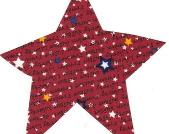 Large Patriotic Star Fabric Iron On Applique