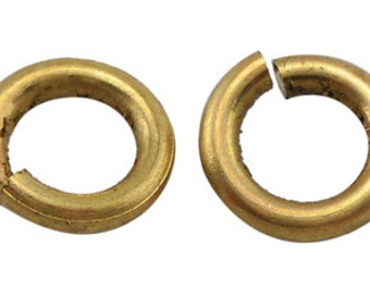 s00769 - 10g  Brass JumpRings, closed unsoldered, raw, unplated, about 5mm in diameter, 1mm thick, about 120pcs/10g