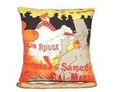 Paris Moulin Rouge Printed Pillow Cover