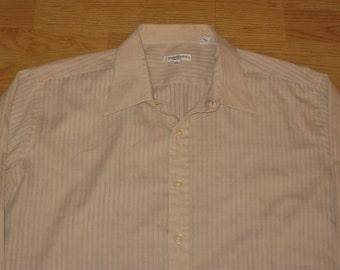 Vintage 1980s Yves Saint Laurent Button Down Dress Shirt