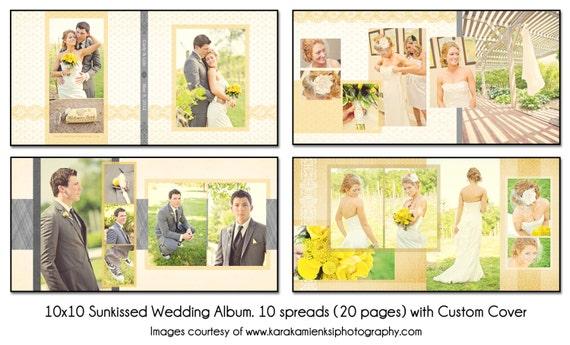 wedding photo album templates in photoshop - psd wedding album template sunkissed 10x10 10spread 20