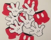Mickey Mouse hand/shorts die cuts/Cupcake toppers/Centerpieces