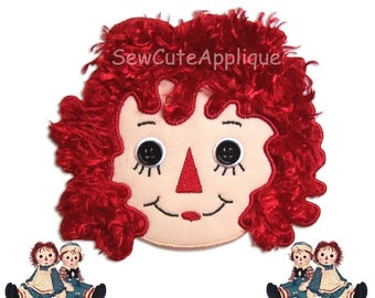 Raggedy Ann No Sew Applique Patch