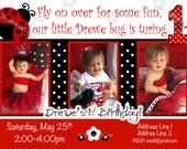 ladybug invitation Ladybug Invite Love bug invitation Red ladybug birthday party lady bug party LadyBugs 1st Birthday invite