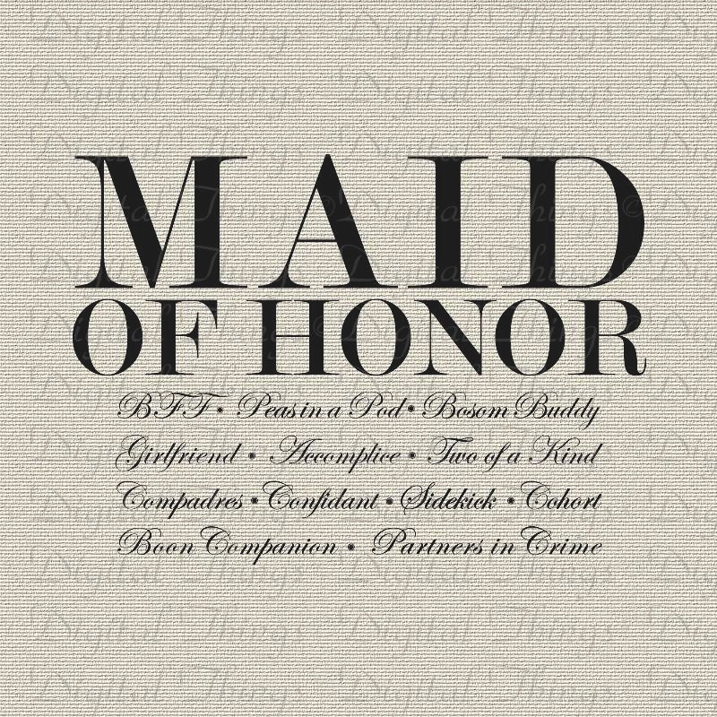 Maid Of Honor Definition Wedding Bachelorette Party Bridal