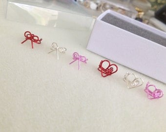 Ear Cuff SWEETHEART Signature Collection Hearts and Bows Valentine Non Pierced