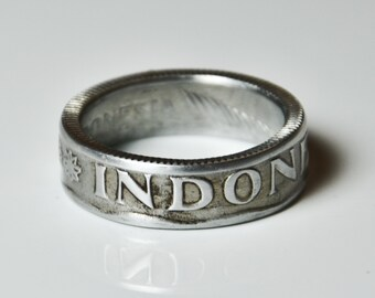 Coin Ring - Indonesia - 25 Sen - Size 8