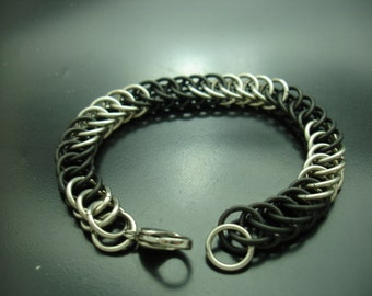 Half Persian 4 in 1 Blackened Stainless Steel Bracelet