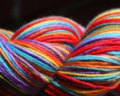 self striping sock yarn MCN colorway Double Rainbow