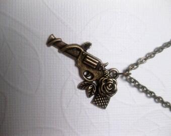 Bang Guns And Roses Gun Necklace