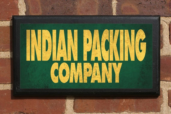 Indian Packing Company Vintage Style Wall Plaque / Sign