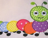 Cute Crawling Bug 05 Machine Applique Embroidery Design - 4x4, 5x7 & 6x8