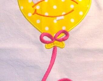 Monster Balloon 01 Machine Applique Embroidery Design - 4x4, 5x7 & 6x8