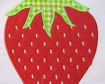 Strawberries 02 Machine Applique Embroidery Design - 4x4, 5x7 & 6x8