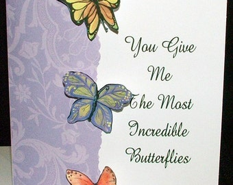 VALENTINE'S DAY CARD - Incredible Butterflies