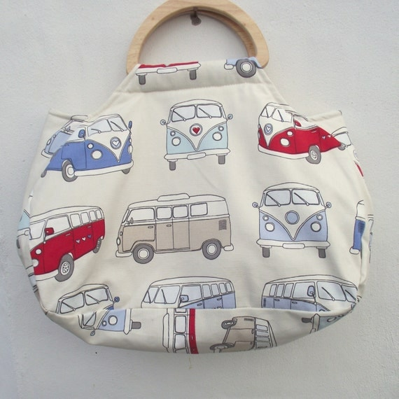 Knitting Project bag. Craft bag. Campervan Bag